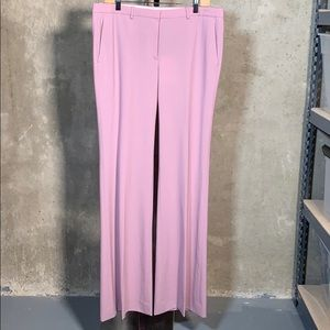 Theory Demitria Dusty Lilac Wool Flare Pants
